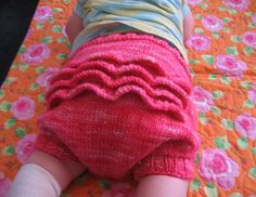 Stefanie Japel's Knit-Your-Own-Soakers tutorial via the Eucalan Blog #baby #clothdiapers #wool