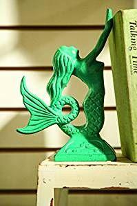 mermaidhomedecor - Cast Iron Mermaid Bookends  $46.94