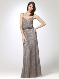 v back long dress slip