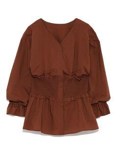 ウエストシャーリングブラウス(シャツ)|Mila Owen(ミラ オーウェン)|ファッション通販|ウサギオンライン公式通販サイト Shirt Blouses, Shirts, Maje, Sleeve Designs, Style Guides, Casual Outfits, Cover Up, Ruffle Blouse, My Style