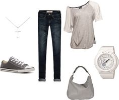 """""""converse"""" by jennifer-gray on Polyvore...this is totally me!"""
