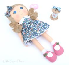 Designer dress-up dolls, accessories and pretty things. Handmade in England. Frilly Socks, Felt Shoes, Fairy Cakes, Dress Up Dolls, Dolls For Sale, Organza Bags, Bag Making, Wool Felt, Cuddling