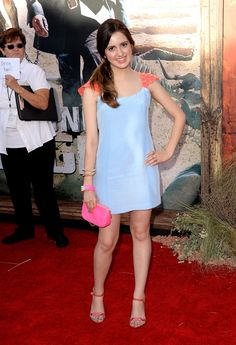 Laura Marano in Zayan dress, CC Sky clutch, Jean-Michele Cazabat heels. P.S. Hot Pink and Coral are one of my FAVE color combos!