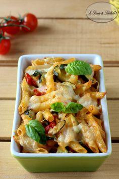 pasta al forno con zucchine e pomodorini