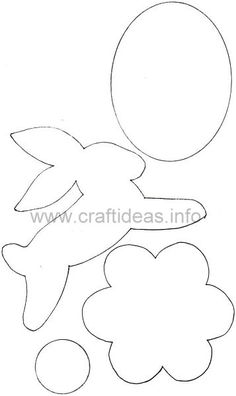 Free Spring Craft Pattern - Easter Bunny, Egg and Flower Applique Motifs for Quilt