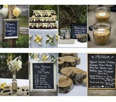 Rustic wedding with DIY signs and favors