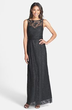 Free shipping and returns on Amsale Illusion Yoke Lace Gown at Nordstrom.com. Ruching around the waist of the illusion-yoke bodice flatters the figure on this fanciful lace gown designed in a stately A-line silhouette. A back-baring cutout offers a tasteful hint of allure.