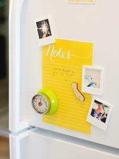 Mit Polaroids kann wunderbar der Kühlschrank geschmückt werden