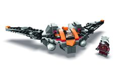 Rocket's Warbird. The set consists ofGuardians of the Galaxy Rocket Raccoon and his spacecraft Warbird, and will retail for $39.99 Lego Booth #2829
