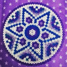 Purple mandala hama perler beads by jootje31
