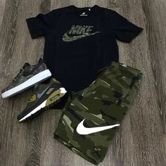 men's street style outfits for cool guys Swag Outfits Men, Tomboy Outfits, Tomboy Fashion, Dope Outfits, Sneakers Fashion, Trendy Outfits, Fashion Outfits, Nike Outfits For Men, Men's Sneakers