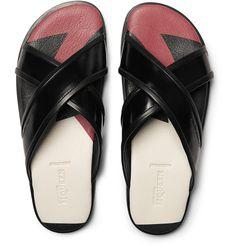Alexander McQueen Patent-Leather Sandals