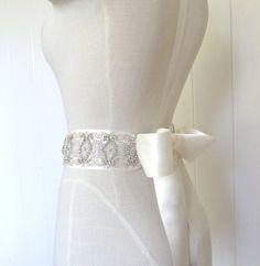 Rhinestone sash 3 wide bridal sash wedding belt by LiveAdorned
