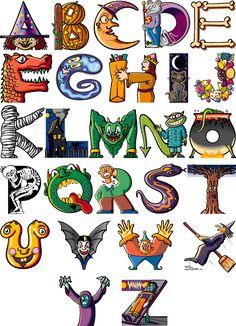 spooky alphabet