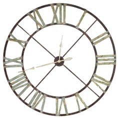grande horloge murale cadre ferronnerie fer metal industriel usine