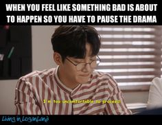 I do that all the time, trying to prepare myself So trueeee Kdrama Memes, Funny Kpop Memes, Movie Memes, Korean Drama Funny, Korean Drama Quotes, K Drama, Drama Fever, Suspicious Partner Kdrama, Funny Relatable Quotes