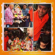 #Hrithik & #Rakesh #Roshan celebrate immersion of one and half day #Ganpat more pics at www.bollywoodeye.co.uk #bollywood #bollywoodeye #bollywoodactor #duggu