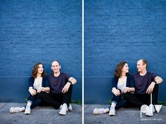 engagement session summer couple bride groom engaged session portrait photographer Bishop Arts District BAD urban walls city downtown brick doors colorful fun DFW Dallas Texas wedding photographer Sarah Whittaker Photo La Vie