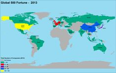 Global Fortune 500 2013 Map