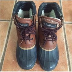 Stormers steel shank size 7 duck boots Good cond. comfy Shoes Winter & Rain Boots