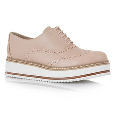 OXFORDS MOD: C113L2552 - TSAKIRIS MALLAS Nude δερμάτινα παπούτσια τύπου oxford