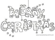 merry christmas pictures to color and print for free print out for the girls to - Print Off Coloring Pages