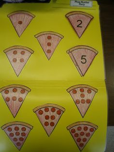 File Folder game - counting pepperonis