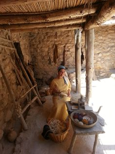 *ISRAEL ~ The weaver at Nazareth Village