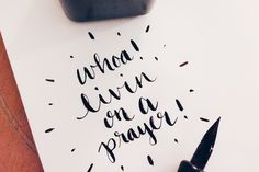 #10daysofparty Instagram Calligraphy Challenge | Hey Love Designs