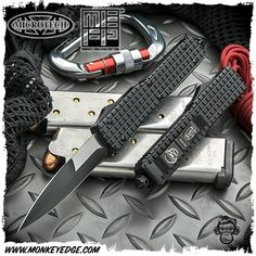 Microtech: Ultratech Monkey Edge FRAG Pattern Bayonet - Black Tactical