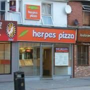 Herpes #Pizza Store Sign #FAIL