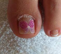 Toe Nail Designs, Toe Nails, Cl, Floral, Flowers, Designed Nails, Dibujo, Long Nail Art, Simple Toe Nails