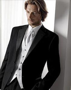 Love the slim fitting tux.
