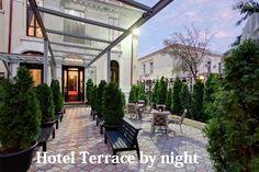 #Terrace by night A #Hotel 4* Bucharest