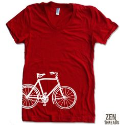 Hey, I found this really awesome Etsy listing at https://www.etsy.com/listing/60105735/womens-vintage-bicycle-t-shirt-american