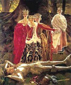 >Four Queens Find Lancelot Sleeping, Frank Cadogan Cowper,Pre Raphaelite art Medieval Art, Medieval Fantasy, Renaissance Art, Italian Renaissance, Pre Raphaelite Paintings, King Arthur Legend, Roi Arthur, Templer, Knight In Shining Armor