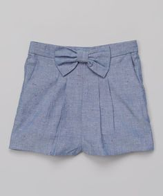 Look at this French Connection Light Blue Woven Shorts - Toddler & Girls on #zulily today!