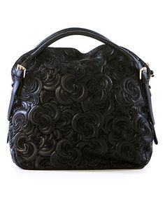 This Black Swirl Leather Shoulder Bag by Lucca Baldi is perfect! #zulilyfinds