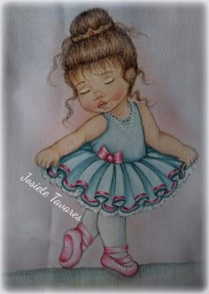 Muy Canvas Painting Projects, Baby Painting, Fabric Painting, Painting & Drawing, Little Girl Drawing, Baby Drawing, Dancing Drawings, Cute Drawings, Chicken Coloring Pages