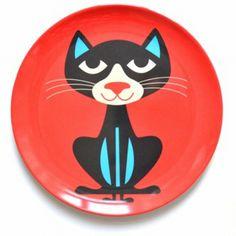 Melamine #plate #Cat #Ingela P #Arrhenius #kids from www.kidsdinge.com