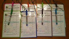 Scorecards for bar golf I made