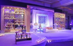 Ceremony decor on pinterest mehndi stage chuppah and for Arab wedding stage decoration