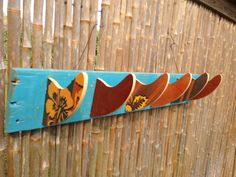 Surfboard Fin  Coat and Hook Rack by CoastalReLife on Etsy, $15.00