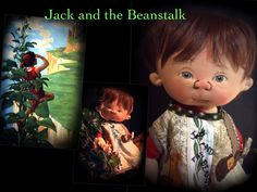 Jack and the Beanstalk one of a kind by doll artist Jan Shackelford