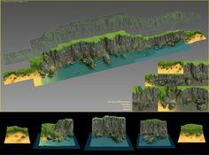 ArtStation - Tileable seashore cliffs, Alina Ivanchenko