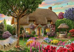 Thatched Cottage Digital Art by Adrian Chesterman