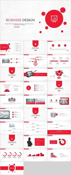 Red Creative business design PowerPoint template on Behance Ppt Design, Powerpoint Presentation Templates, Keynote Template, Keynote Design, Design Art, Powerpoint Presentations, Brochure Design, Creative Design, Graphic Design
