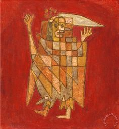 Allegorical Figure Allegorische Figurine Verblassung Painting by Paul Klee