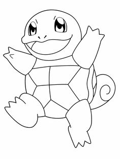 Pokemon Turtle Is Being Stepped Up Coloring Page
