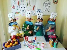 Health lessons ve preschool learning. Dental Health, Oral Health, Dental Care, Art For Kids, Crafts For Kids, Health Activities, Health Lessons, Preschool Activities, Preschool Learning